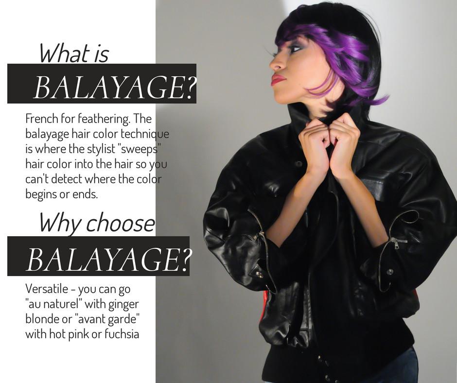 Describing what balayage looks like
