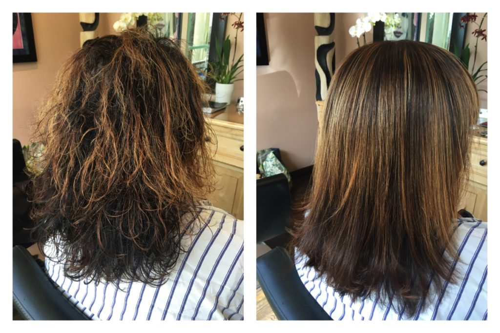 What's first keratin or color