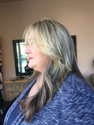 Hair Coloring Base and Highlights